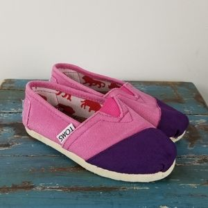 Toms toddler girl classic slip-on shoes
